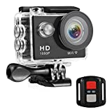 Nexgadget Sport Kamera Action cam mit 12 Mp Bild und Full HD 1080p Video, WIFI und mit Fernbedienung, 30m Tiefe wasserdicht, 170 Grad Weitwinkel mit Zubehr Kits