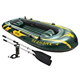 Intex 68351EP Boot Seahawk 4 Set, mehrfarbig, 351 x 145 x 48 cm/4-teilig