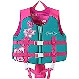 Zeraty Kinder Schwimmweste Schwimmen Jacke für Kleinkinder mit Einstellbare Sicherheits Straps Alter 1-9 Jahre /22-50 lbs/Rosa