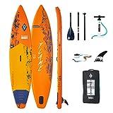 Aztron AQUATONE Flame 12.6 Touring iSUP aufblasbar Surfboard, Stand Up Paddle 381x81x15