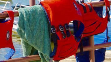 Schwimmweste Schlauchboot