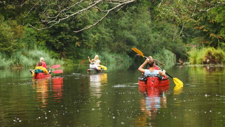 Paddelboot Tour auf dem Fluss